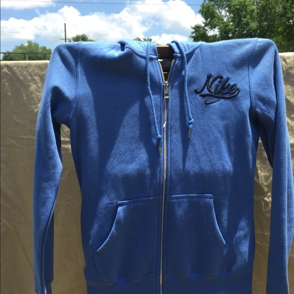 47f3c4bc2 Nike Jackets & Coats | Blue Ladies Zip Up Hoodie Nwot Size Small ...